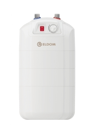 Compact standing water heater with energy class B. Ideal for under the sink.